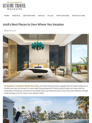 2018u0027s Best Places To Own Where You Vacation